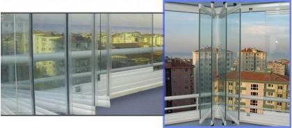 """Остъкляване на балкон – с безпрофилна плъзгаща система тип """"Хармоника"""""""